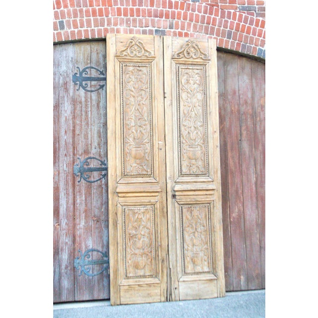 French Grand Antique Indo French Doors For Sale - Image 3 of 8