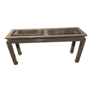 Gray Lacquered Ming Console Table
