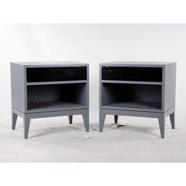1980s Mid-Century Modern Black Mosaic Side Tables - a Pair For Sale - Image 13 of 13