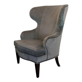 Modern Ethan Allen Contemporary Curves Rand Wing Chair For Sale