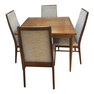 Scandinavian Modern A.b j.o. Carlssons Draw-Leaf Dining Set - 5 Pieces For Sale