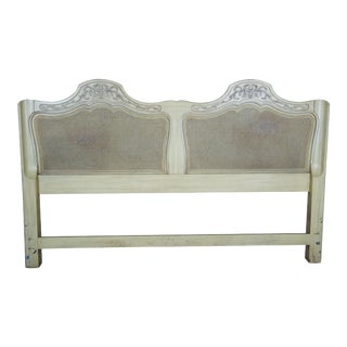 French Provincial King Size Cane Back King Headboard For Sale