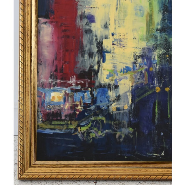 Lights Juan Guzman Los Angeles Cityscape Abstract Painting For Sale - Image 7 of 10