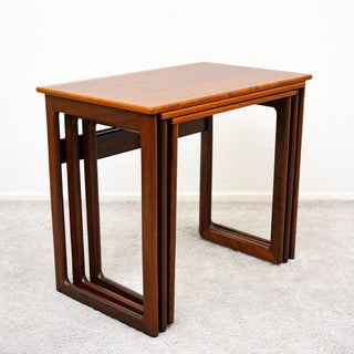 1960s Vintage Danish Teak Nesting Tables by a.k. Odense - Set of 3 Preview