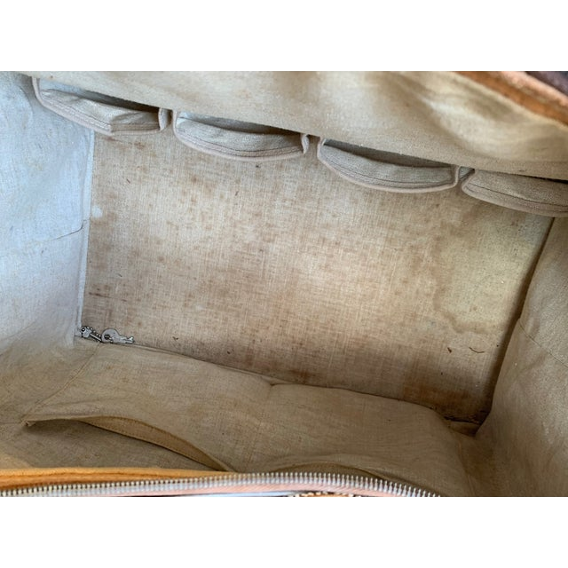 Vintage Leather Luggage Bag For Sale - Image 9 of 11