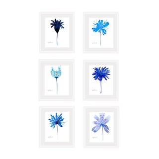 Framed and Matted Premium Giclee Prints - Set of 6 For Sale