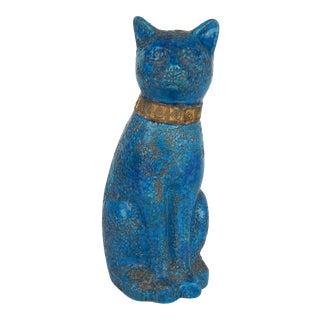 Bitossi Londi Designed 'Cinese' Glaze Sitting Cat, Circa 1968 For Sale