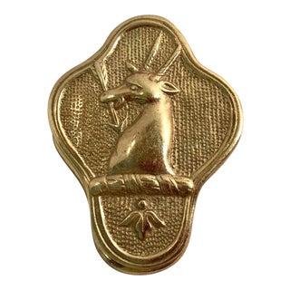 Vintage Brass Stag Deer Door Knocker For Sale