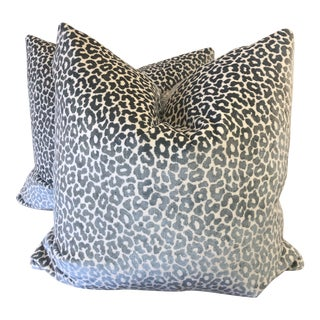 "Schumacher ""Madeleine Velvet Cadet"" 22"" Pillows-A Pair For Sale"