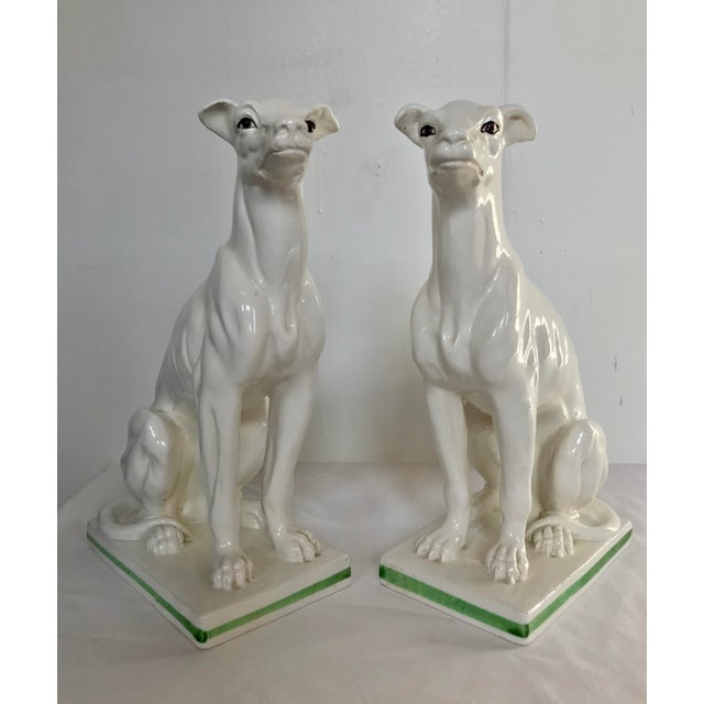 Blanc De Chine Italian Greyhound's , a Pair For Sale - Image 6 of 13