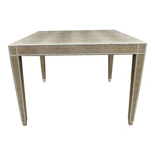 Kravet Contemporary Modern Embossed Leather and Studded Game Table For Sale