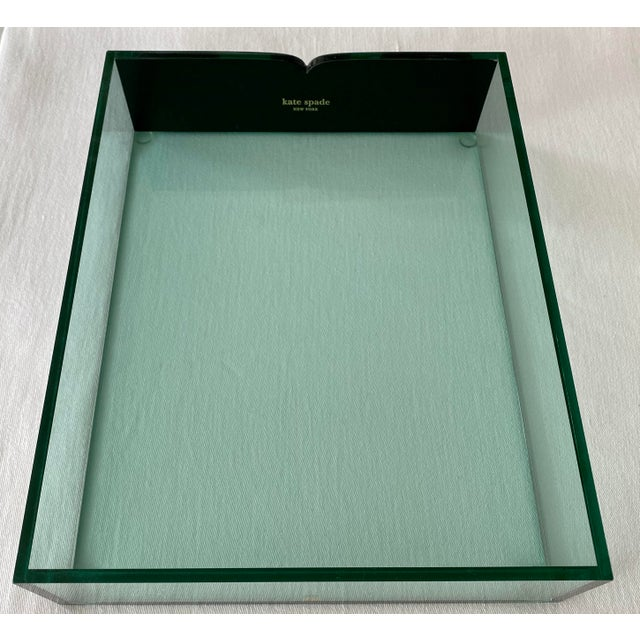 Kate Spade Green Lucite Desk Tray For Sale - Image 11 of 11
