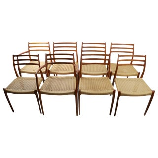 Set of 8 Danish Modern Dining Chairs by Neils O. Moller for Jl. Moller For Sale