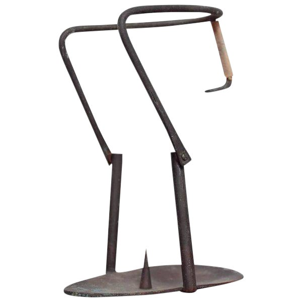 Mid-Century Bronze Candle Holder For Sale