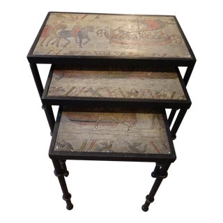 Vintage French Set of Nesting Tables For Sale