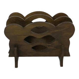 Vintage Wooden Napkin Holder For Sale
