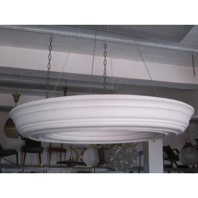 High end two large dramatic french modern neoclassical plaster art deco two large dramatic french modern neoclassical plaster chandeliers pendants for sale aloadofball Gallery