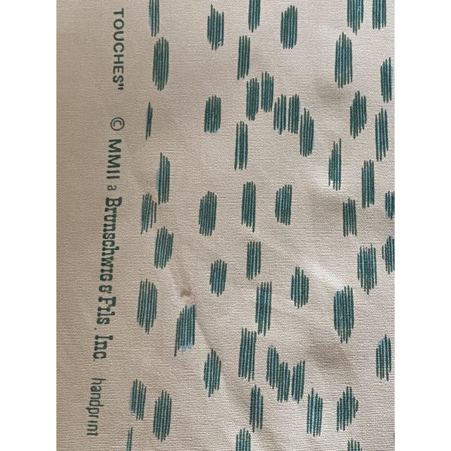 Traditional Brunschwig & Fils Les Touches Aqua Fabric - Sold in 2 Yard Increments For Sale - Image 3 of 4