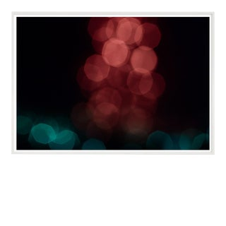 Light Study Photograph in Rose and Teal For Sale