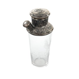 Art Nouveau Sterling Repousse Martini Shaker For Sale
