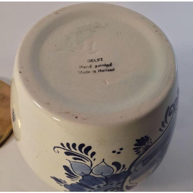 Hand Painted Delft Blue & White Porcelain Jar - Image 6 of 6