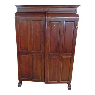 20th Century Large Jewelry Cabinet Armoire For Sale
