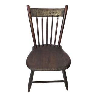 19th Century American Walnut Children's Chair For Sale