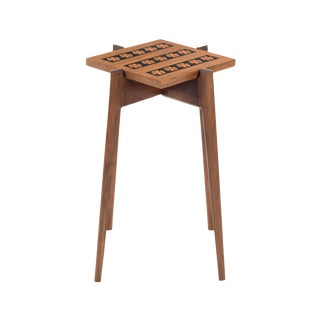 Walnut Side Table in the Style of Edward Wormley For Sale
