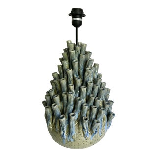 Handmade Ceramic Sea Coral Anemone Table Lamp For Sale
