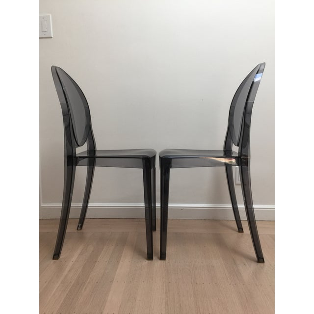 Modern Philippe Starck Smoke Louis Ghost Chairs -Set of 2 For Sale - Image 3 of 8