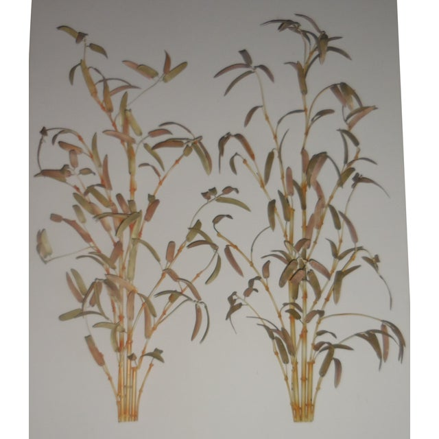 Italian Bamboo Wall Sculptures - A Pair - Image 2 of 12