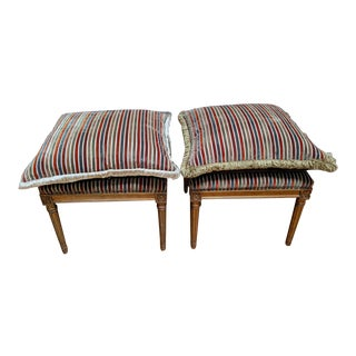 Vintage Mid-Century Sitting Benches- a Pair For Sale