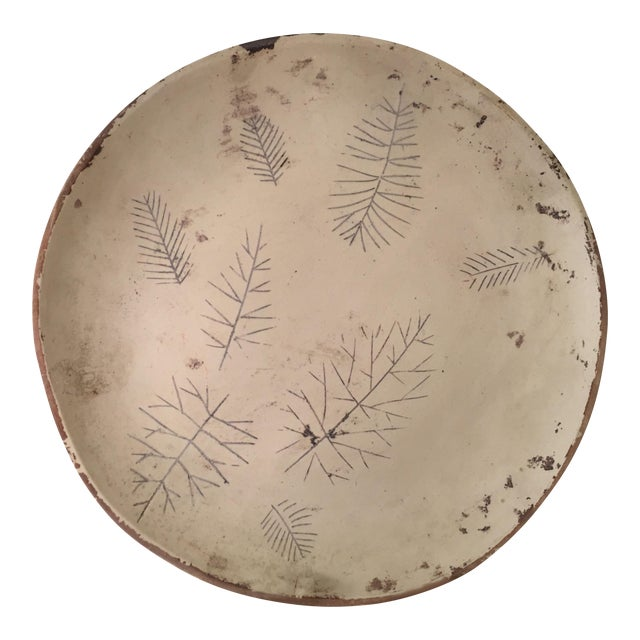 Rare Sascha Brastoff Artist's Collection Un-Fired Modernist Snowflake Plate For Sale