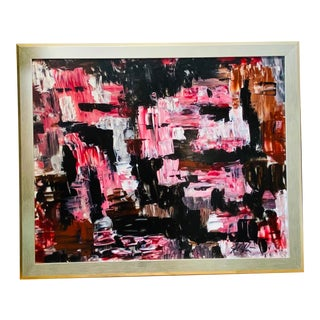 Contemporary Abstract Acrylic Painting by Josh Moulton, Framed For Sale