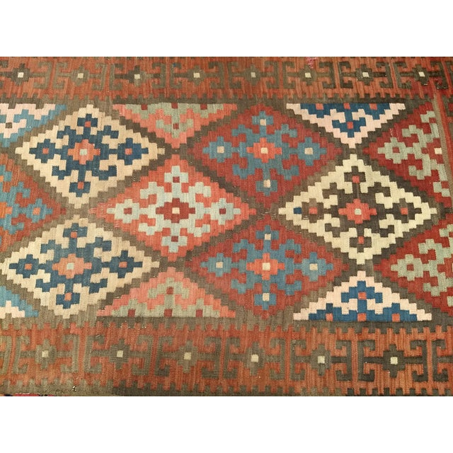 Textile Persian Flat Woven Kilim Runner - 2′10″ × 12′3″ For Sale - Image 7 of 13