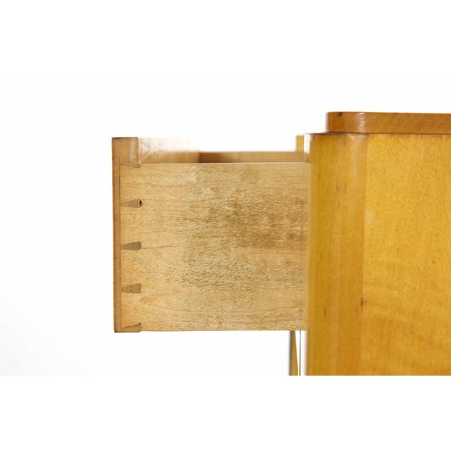 Red Art Deco Birch & Rosewood Vitrine Bookcase Cabinets circa 1930 - A Pair For Sale - Image 8 of 11