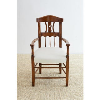 19th Century Country French Carved Fruitwood Armchair Preview