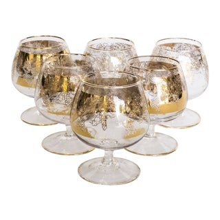 Mid-Century Brandy Snifter or Cordial Glasses - Set of 6 For Sale