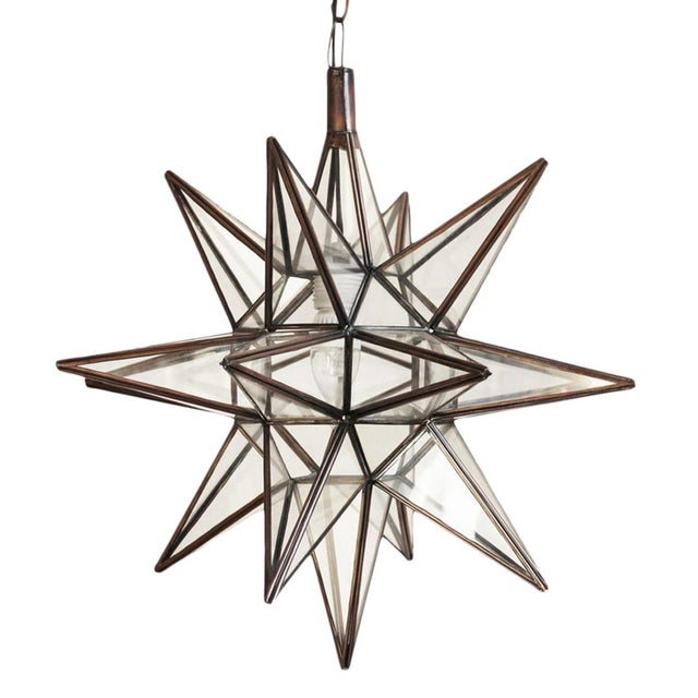 Contemporary Moravian Star Lantern - Clear For Sale - Image 3 of 3