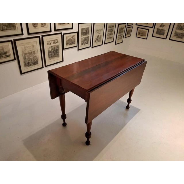 19c Virginia Shaker Drop Leaf Table - With Provenance For Sale - Image 4 of 13