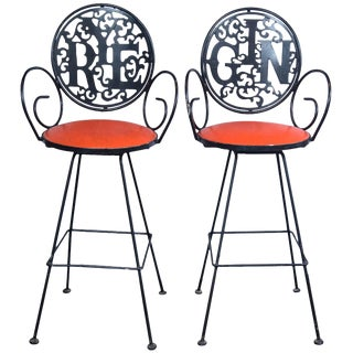 1960s Vintage Arthur Umanoff Bar Stools- a Pair For Sale