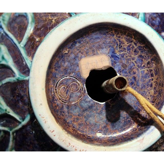 Ceramic Vintage 1920s Jean Mayodon French Art Deco Gilt Pottery Vase Lamp For Sale - Image 7 of 13