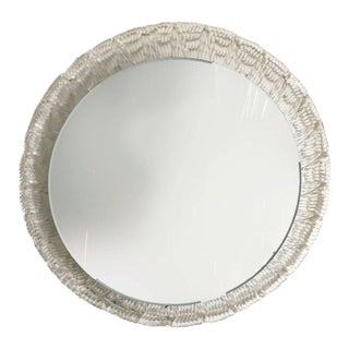 1970s Mid-Century Modern Illuminated Round Mirror For Sale