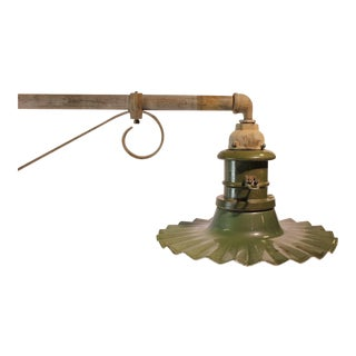 Early 20th C. Antique American Industrial City Street Wall Sconce For Sale