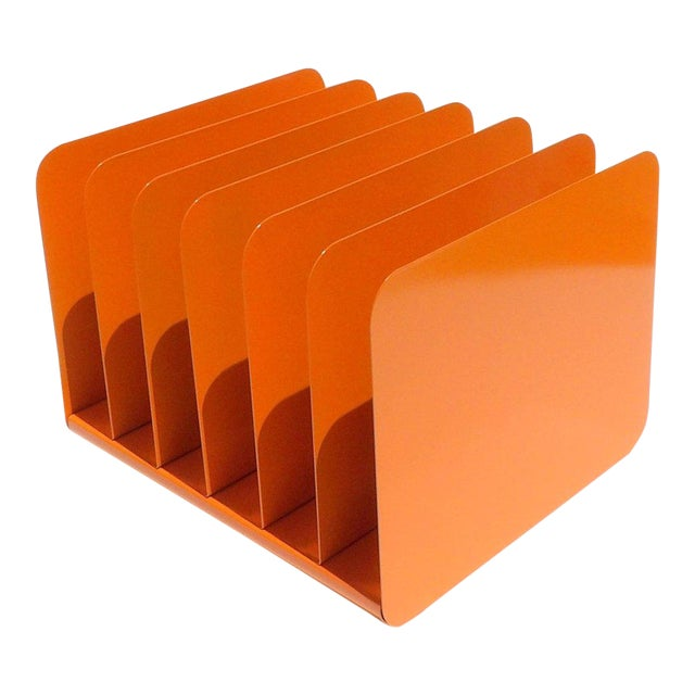 Orange Metal Desk Organizer For Sale