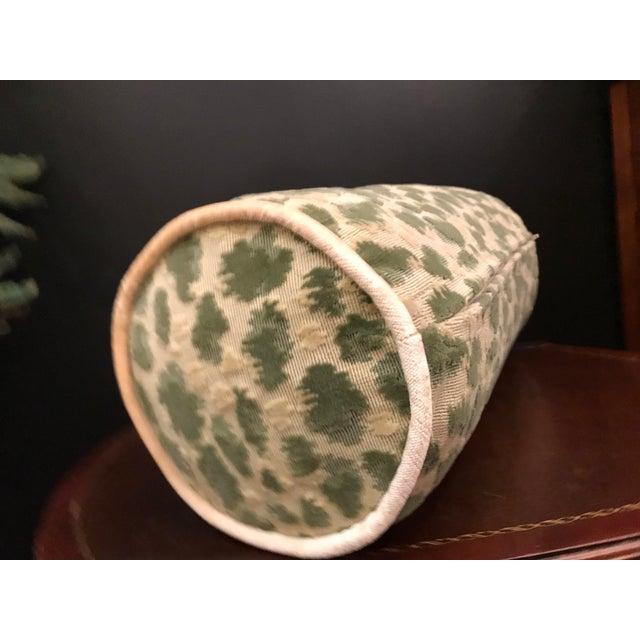 Brunschwig & Fils Hollywood Regency Brunschwig & Fils Zambezi Grospoint Leopard Velvet Epingle Pillow For Sale - Image 4 of 5