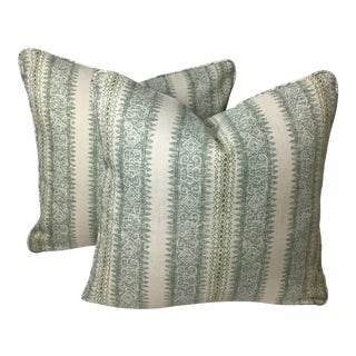 "Fabricut Charlotte Moss Printed Pillows - a Pair, 20""x20"" For Sale"