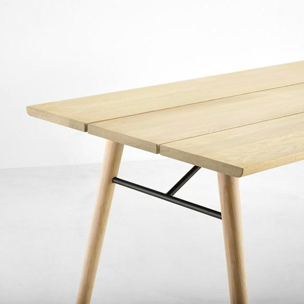 Contemporary Woud Spilt Soaped Oak Dining Table For Sale - Image 3 of 5