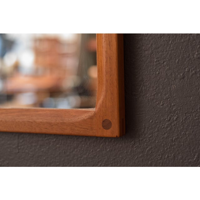 Vintage Danish Teak Hanging Wall Mirror by Aksel Kjersgaard For Sale In Monterey, CA - Image 6 of 9