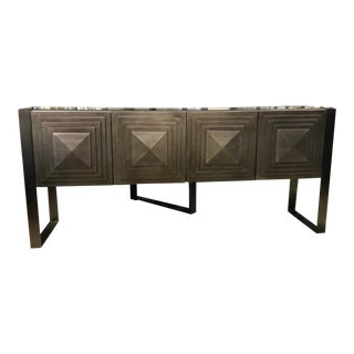 Contemporary Mosaic Warm Graphite Console Table For Sale